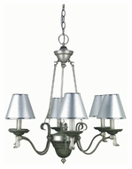 Lite Source LS14656 Laurel Traditional 27 Inch Diameter 6 Lamp Hanging Chandelier Lighting