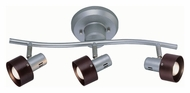 Lite Source LS16093 Duccio 22 Inch Wide 3 Lamp Silver Finish Monorail Lighting Kit