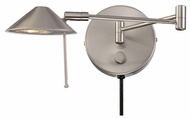 Lite Source LS16350PS Rhine Swing-arm Wall Lamp in Polished Steel