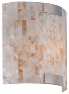 Lite Source LS16381 Schale Tropical Shell Mosaic Wall Sconce