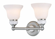 Lite Source LS16402PS/FRO Princeton 2 Lamp 16 Inch Wide Bath Sconce Lighting