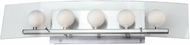 Lite Source LS16455-PS-FRO Alysa Polished Steel Modern Vanity Light with Glass Shield