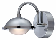 Lite Source LS16681C Dekel LED Contemporary Chrome 6 Inch Tall Wall Mounted Lamp