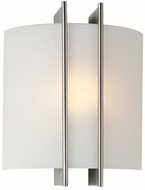 Lite Source LS1673 Checks Collection 9 inches High Wall Lamp in Polished Steel