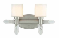Lite Source LS16862SS/FRO Glamis Satin Steel Finish Transitional Vanity Light Fixture