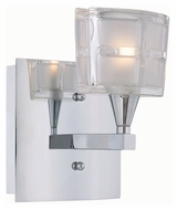 Lite Source LS16981C/CLR Iskyla Chrome Finish 7 Inch Tall Transitional Wall Lighting Fixture