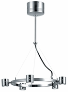 Lite Source LS17955-PS Piston 5-Light Ceiling Light Fixture in Polished Steel