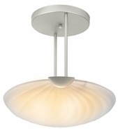 Lite Source LS1833SS-FRO Shell Collection 17 inch High Satin Steel Ceiling Light Fixture