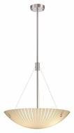 Lite Source LS18461 Rocco 20 Inch Diameter Polished Steel Bowl Pendant Lighting