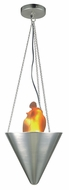 Lite Source LS1870-PS Flame Polished Steel Halogen Pendant Light