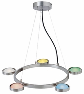 Lite Source LS18745-MULTI Sherbet Collection Chandelier with Multi-Colored Glass