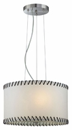 Lite Source LS18858 Lavina Modern 18 Inch Diameter Polished Steel Drum Pendant Light