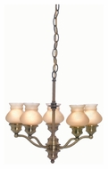 Lite Source LS19271AB/AMB Susie Vintage Style 5 Lamp Antique Brass Chandelier Lighting
