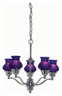 Lite Source LS19271C/BLU Susie 16 Inch Diameter Contemporary Chrome Glass Hanging Chandelier