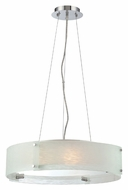 Lite Source LS19420C/FRO Kaelin Contemporary 20 Inch Diameter Chrome Finish Hanging Light