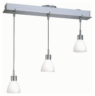 Lite Source LS19473FRO Catina 3 Lamp 25 Inch Wide Transitional Bar Lighting - Frost Finish