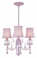 Lite Source LS19528PINK Sofie 3 Lamp Pink 19 Inch Diameter Mini Chandelier Light Fixture