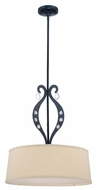 Lite Source LS19642 Lyre Pendant Light with Drop Crystal Accents