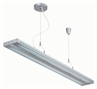 Lite Source LS19689SILV Giada Silver 47 Inch Wide 2 Lamp Transitional Island Light Fixture