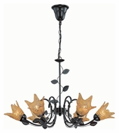 Lite Source LS19886 Farrell Rustic Dark Bronze Finish Chandelier Lighting - 30 Inch Diameter