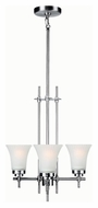 Lite Source LS19943SS/FRO Bendek 3 Lamp Satin Steel Finish 16 Inch Diameter Mini Chandelier Light