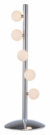 Lite Source LS20738CFRO Razo 5 Light Chrome Finish 26 Inch Tall Modern Table Lamp