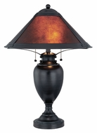 Lite Source LS21437 Mischa Dark Bronze Finish 26 Inch Tall Transitional Pull Chain Table Lamp
