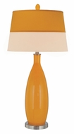 Lite Source LS21500ORN Gillespie Orange Finish Transitional 37 Inch Tall Living Room Table Lamp