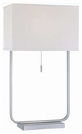 Lite Source LS21582PSWHT Gazit Modern Table Lamp
