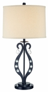 Lite Source LS21642 Lyre Table Lamp with Drop Crystal Accents