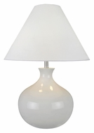 Lite Source LS21648 Chakra White 27 Inch Tall Modern Nightstand Lamp