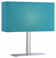 Lite Source LS21797CBLU Levon Contemporary Table Lamp with Blue Shade