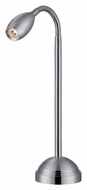 Lite Source LS21804ALU Saskia LED 15 Inch Tall Modern Aluminum Desk Lamp