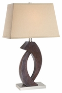 Lite Source LS21817 Carlyle Contemporary Wood Table Lamp