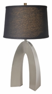Lite Source LS21931PSBLK Forster Polished Steel 32 Inch Tall Modern Living Room Table Lamp - Black Linen Shade