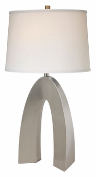 Lite Source LS21931PSWHT Forster Contemporary 32 Inch Tall White Linen Shade Table Lamp Lighting