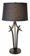 Lite Source LS21934BLK Bourne Antique Bronze Finish 32 Inch Tall Contemporary Black Shade Table Top Lamp
