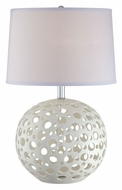Lite Source LS21947 Finnian Modern 23 Inch Tall White Table Lamp