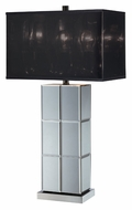 Lite Source LS21986 Dario Contemporary Mirror Body Table Light With Black Transparent Mylar Shade