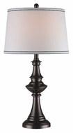 Lite Source LS22002 Deasia Traditional 28 Inch Tall Gun Metal Finish Table Lamp Lighting