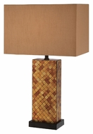 Lite Source LS22014 Shelette 22 Inch Tall Contemporary Amber Mosaic Glass Table Lighting