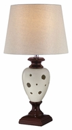 Lite Source LS22022 Piri Modern Ceramic 23 Inch Tall Bedroom Table Lamp