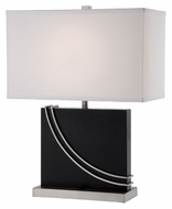 Lite Source LS22050 Barto Contemporary 24 Inch Tall 18 Inch Wide Matte Black Lamp