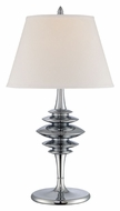 Lite Source LS22085CWHT Shinta 31 Inch Tall Transitional Style Chrome Finish Table Light