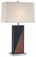 Lite Source LS22093 Cristiano Walnut and Black Wood Table Light