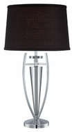 Lite Source LS22095CBLK Triocof I 30 Inch Tall Modern Bedroom Table Lamp
