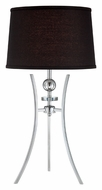 Lite Source LS22096CBLK Triocof II Contemporary Chrome Finish Tripod Table Lighting
