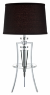 Lite Source LS22097CBLK Triocof III Chrome Finish 31 Inch Tall Modern Tripod Table Lamp Lighting