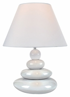 Lite Source LS22112WHT Tiya 15 Inch Tall Modern White Ceramic Lamp