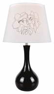 Lite Source LS22113BLK Siani Contemporary 22 Inch Tall Black Ceramic Lamp